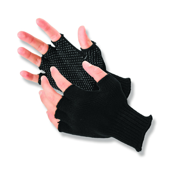 Half-Finger Grip Dot Glove - L